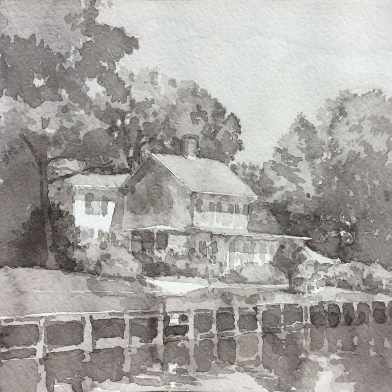 Daniel R's Ink wash class at Academy Art Museum